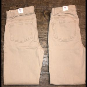 Justice khaki pants bundle